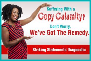 copy diagnostic ad